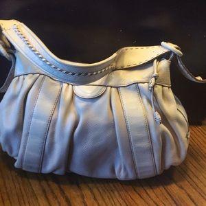 Cole Haan cream leather hobo bag
